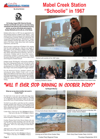 Eh Schoolie! by Graham McGrath in the Coober Pedy Regional Times